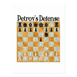 Petrov's Defense Postcard