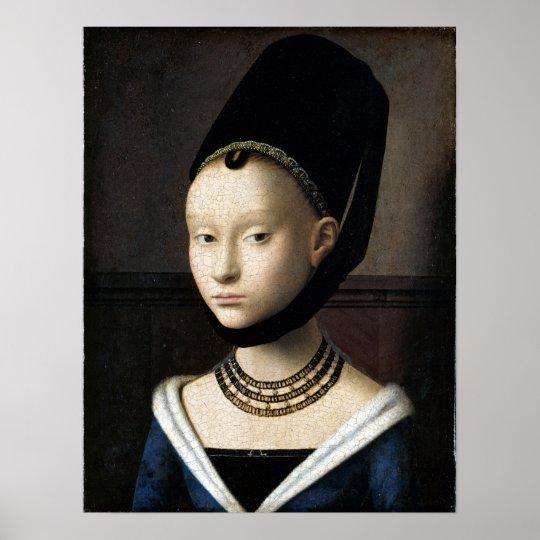 Petrus Christus Portrait of a Young Woman Poster