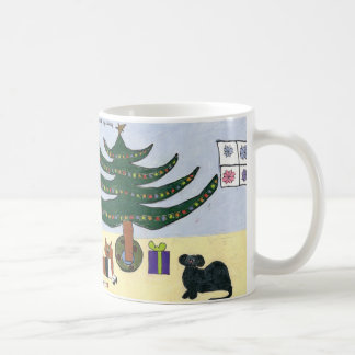 Pets around the Christmas Tree Mug