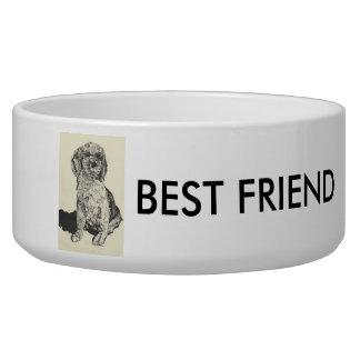 Pets Bowl  -Cocker Spaniel Best Friend Pet Bowl