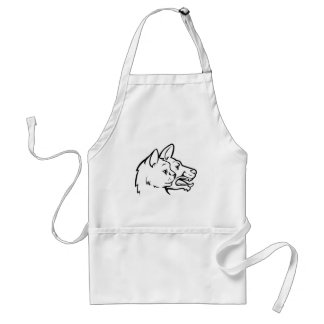 Pets Cat and Dog Faces Icon Concept Standard Apron