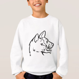Pets Cat and Dog Faces Icon Concept Sweatshirt