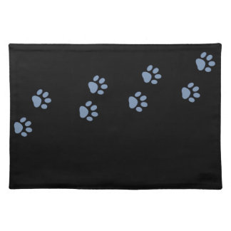 pets dog cat pawprints placemat