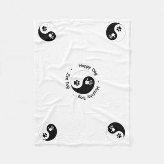Pets- Fleece Blanket with HandToPaw Yin-Yang