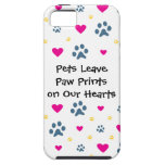Pets Leave Paw Prints on Our Hearts iPhone 5 Case