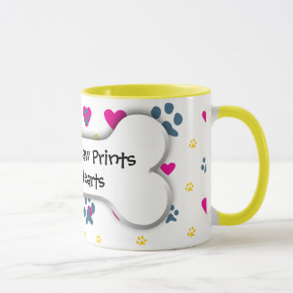 Pets Leave Paw Prints on Our Hearts Mug