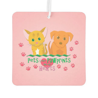 Pets Leave Pawprints On Our Hearts Car Air Freshener