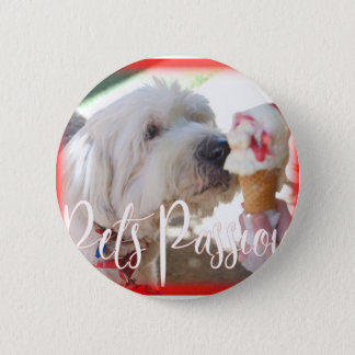Pets Passion 2 Inch Round Button