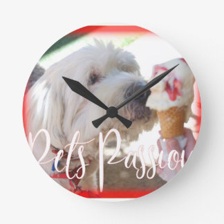 Pets Passion Round Clock