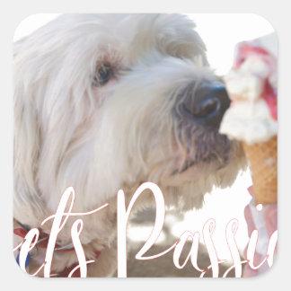 Pets Passion Square Sticker