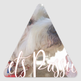 Pets Passion Triangle Sticker