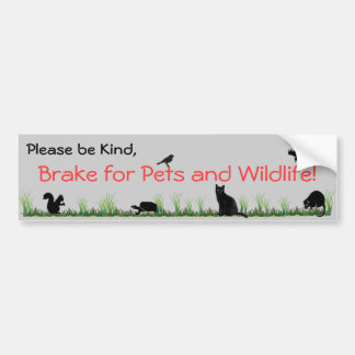 pets & wildlife bumper sticker