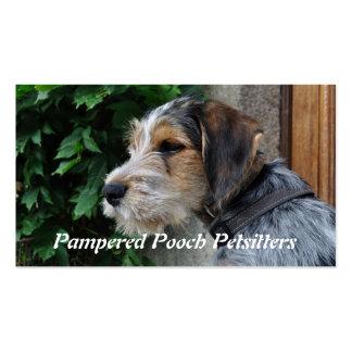 Petsitting hound portrait business card