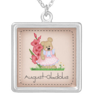 Pettibone Bear August Gladiolus Necklace