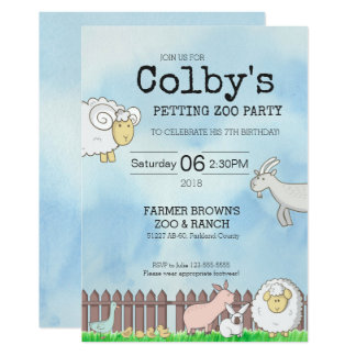 Petting Zoo Party Invitation