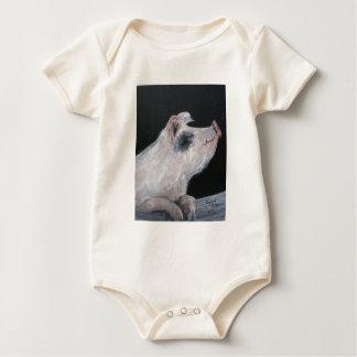 """""""Petunia Pig"""" Infant Creeper"""