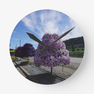 Petunia Tree at The Greenery in Kelowna Round Clock