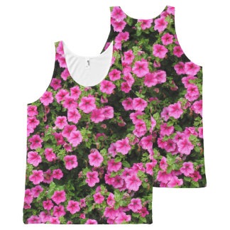 Petunias and lawn All-Over-Print tank top