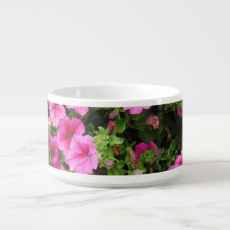 Petunias and lawn bowl
