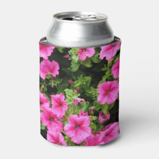Petunias and lawn can cooler