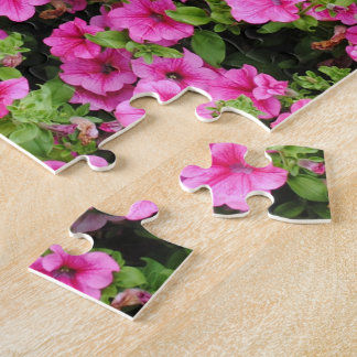 Petunias and lawn jigsaw puzzle