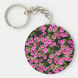 Petunias and lawn keychain