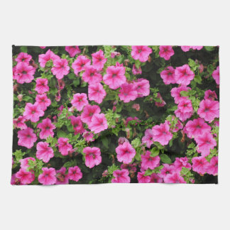 Petunias and lawn kitchen towel