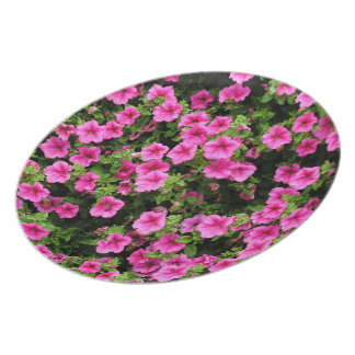 Petunias and lawn party plates
