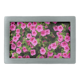 Petunias and lawn rectangular belt buckle