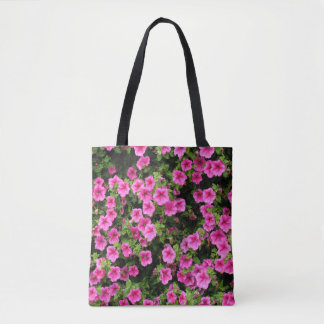 Petunias and lawn tote bag