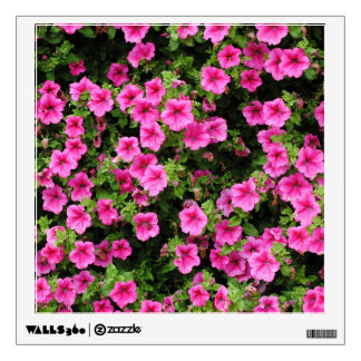 Petunias and lawn wall decal