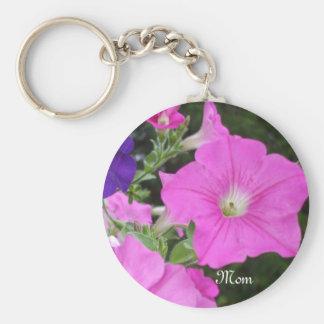 Petunias Keychain