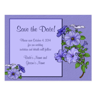 Petunias Save the Date Postcard