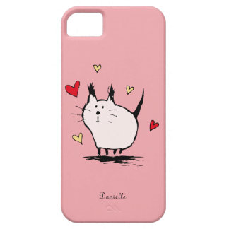 Peu de cas de l'iPhone 5 de rose de chat d'amour Coques Case-Mate iPhone 5
