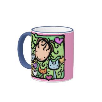 Peu de Girlie aime ses minous Mug