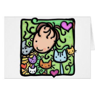 Peu de Girlie et ses minous Carte De Vœux