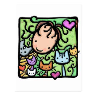 Peu de Girlie et ses minous Carte Postale