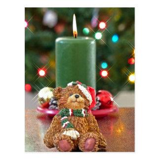Peu de Noël d'ours Carte Postale