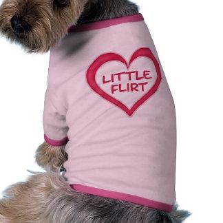Peu d'habillement d'animal familier de flirt tee-shirt pour toutou