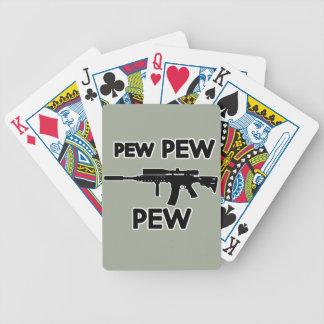 Pew pew gun bicycle playing cards