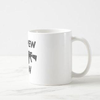 Pew pew gun coffee mug