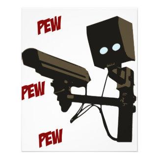 Pew Pew Pew Laser Radar Gun Robot Personalized Flyer