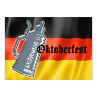 Pewter Beer Stein German Flag Oktoberfest Card