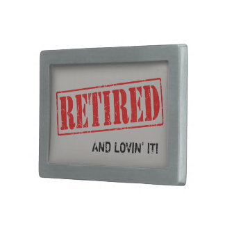 Pewter Belt Buckle For the Retiree