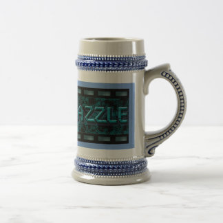 Pewter color beer mug with logo for AmaraDazzle
