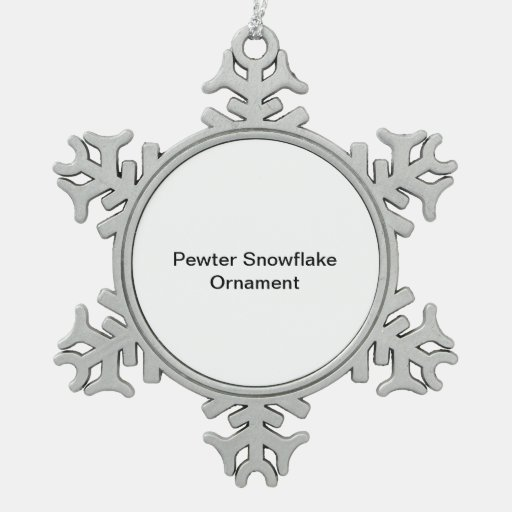 Pewter Snowflake Ornament
