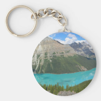 Peyto Glacial Lake Banff Park Alberta Canada Basic Round Button Keychain
