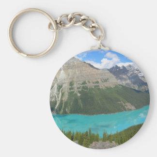 Peyto Glacial Lake Banff Park Alberta Canada Keychain