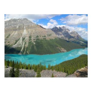 Peyto Glacial Lake Banff Park Alberta Canada Postcard