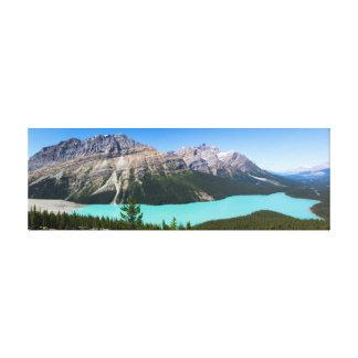 Peyto Lake Panorama, Banff Alberta Canvas Print